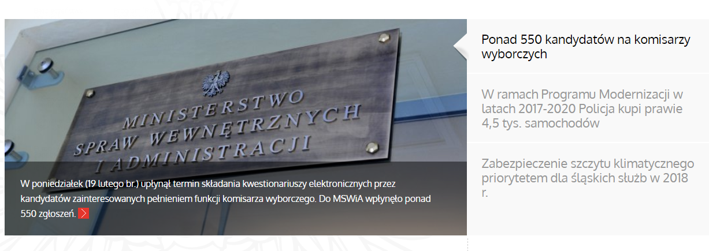 W zestawieniu za 2017 najlepiej wypadło Ministerstwo Spraw Wewnętrznych i Administracji. Zrozumienie tekstów, jakie zamieszcza na swojej stronie nie powinny sprawić problemu maturzyście. (fot.mswia.gov.pl)