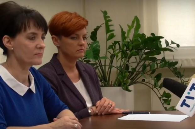 Prezydent Jastrzębia Zdroju Anna Hetman podczas konferencji prasowej. (fot. mat. UM Jastrzębie Zdrój)