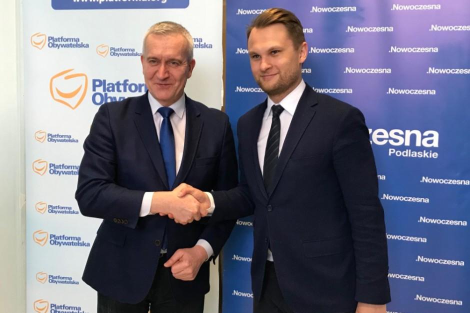 PO i Nowoczesna inaugurują samorządową koalicję do podlaskiego sejmiku