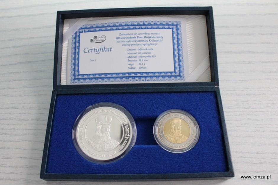 Łomża z okazji 600-lecia sprzedaje monety - jantary