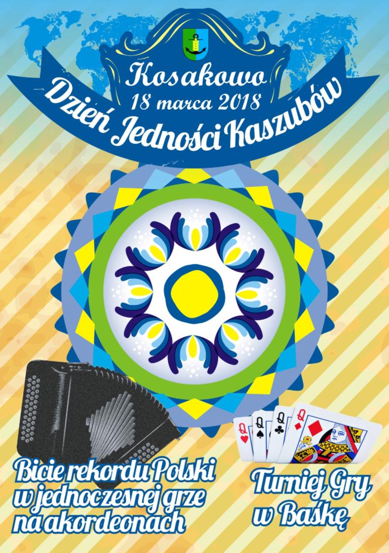 Plakat zachęcający do udziału w wydarzeniach w gminie Kosakowo (fot.gminakosakowo.pl)