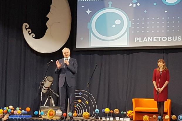 Jarosław Gowin na spotkaniu z uczniami (fot. twitter.com/MKiDN_GOV_PL)