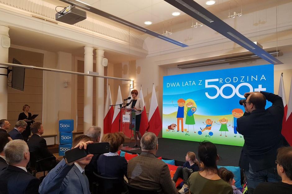 Dwa lata 500 plus. Elżbieta Rafalska podsumowała efekty programu