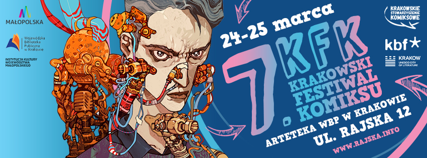 Krakowski Festiwal Komiksu to festiwal dla każdego, dla młodszych i starszych, dla całych rodzin - mówi Artur Wabik, koordynator festiwalu (fot.komiks.org.pl)