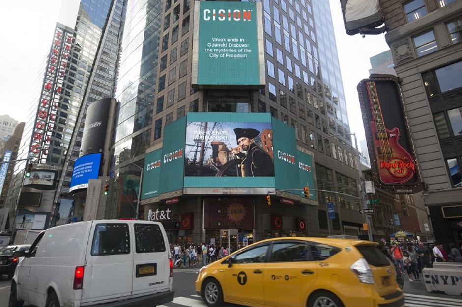 Gdańsk z prestiżową nagrodą. Kadr ze spotu na nowojorskim Times Square