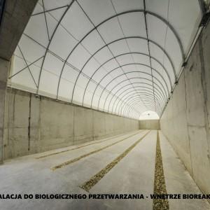 <p>Instalacja do biologicznego przetwarzania - wnętrze bioreaktora.</p>