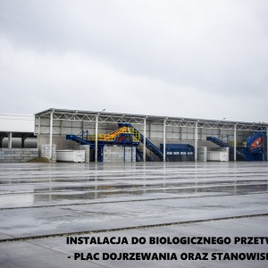 <p>Instalacja do biologicznego przetwarzania - plac dojrzewania oraz stanowisko SIT.</p>