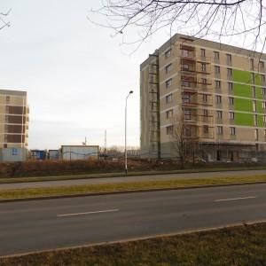 <p>Przy ul. Husarskiej powstały dwa wielorodzinne budynki komunalne</p>