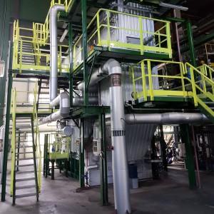 <p>W ramach II etapu wybudowano nowatorską instalację odsiarczania spalin.</p>