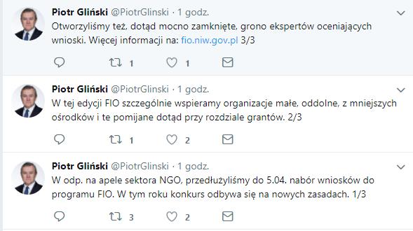 fot. Twitter/Piotr Gliński