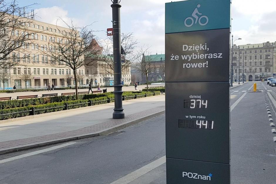 """W Poznaniu stanął pierwszy w mieście """"licznik rowerowy"""""""