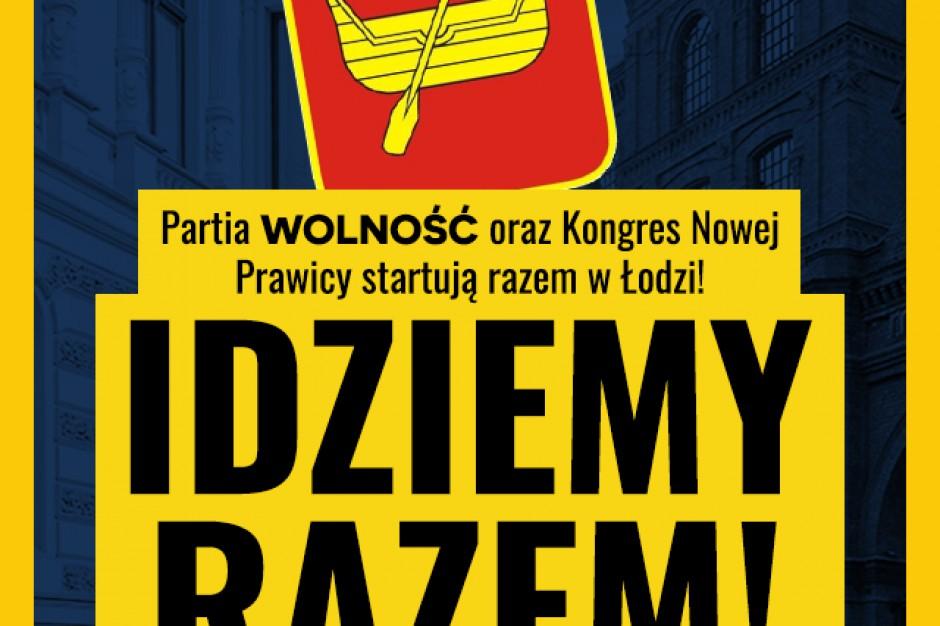 Partia Wolność i Kongres Nowej Prawicy łączą siły w wyborach samorządowych w Łodzi