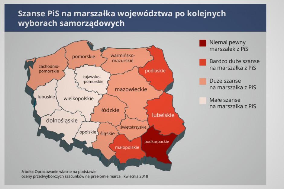 Wybory samorządowe 2018: Politolodzy o szansach PiS na stanowiskach marszałków województw