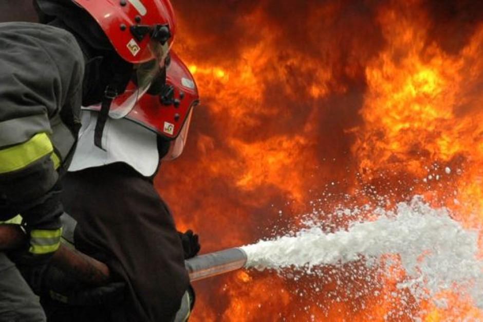 Pożar zakładu przetwarzania surowców wtórnych w Dąbrówce Wielkopolskiej