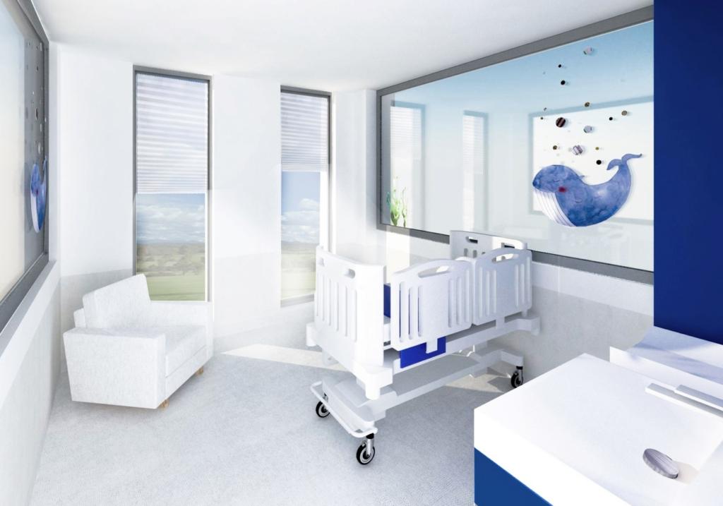 Mali pacjenci będą leczeni w pojedynczych salach 9 ( Fot. Urząd Marszałkowski Woj. Wielkopolskiego)