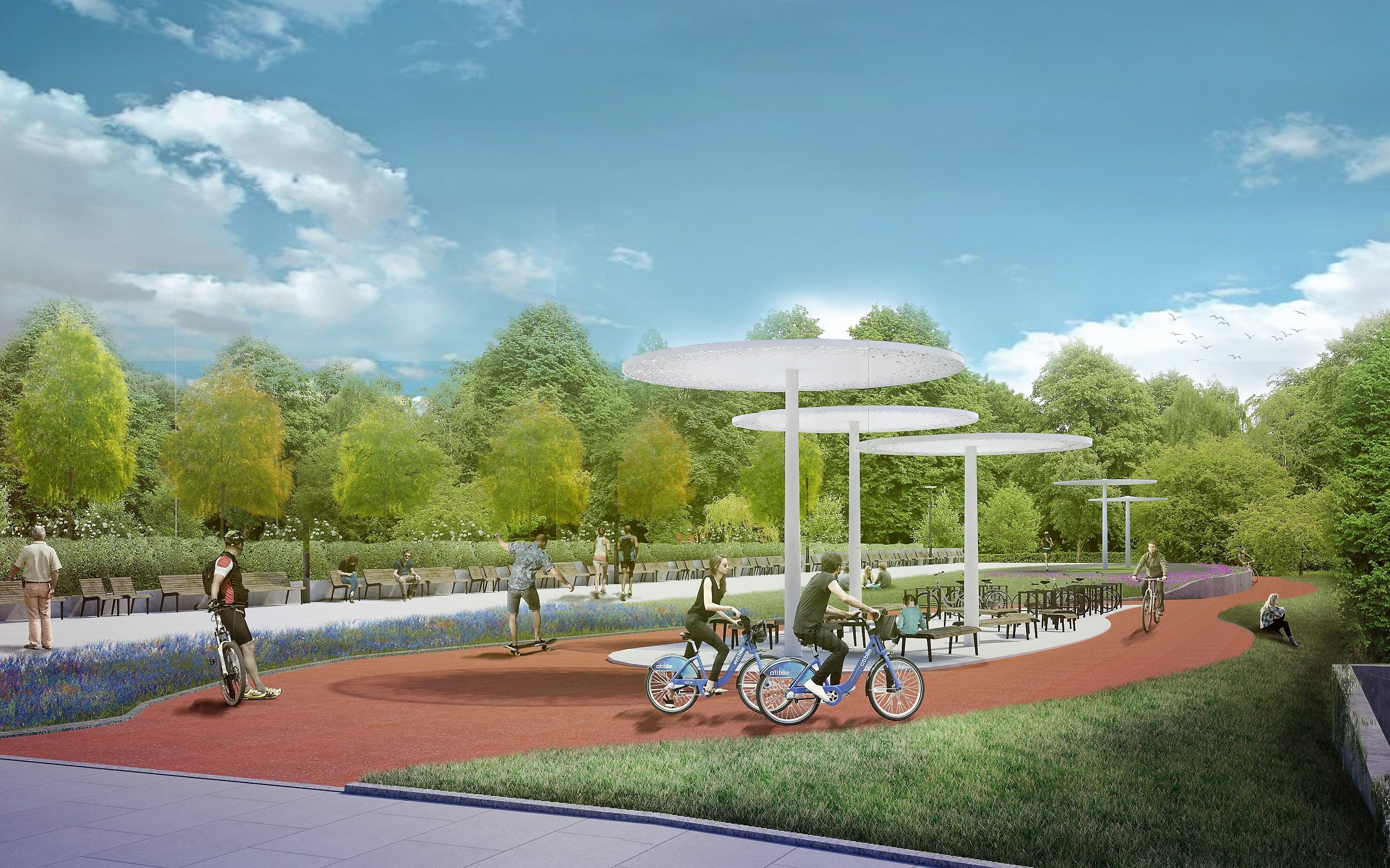 Na promenadzie będzie przestrzeń dla pieszych, rowerzystów i rolkarzy (fot.: UM Świnoujście)