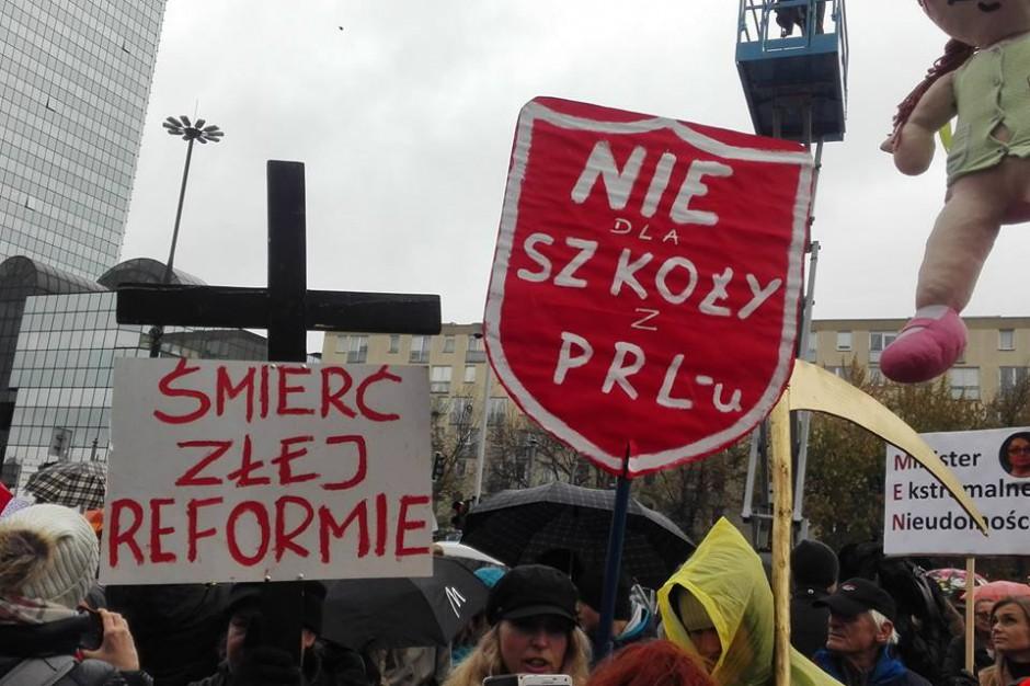 Manifestacja nauczycieli. Sławomir Broniarz o żądaniach płacowych i idealnym ministrze edukacji