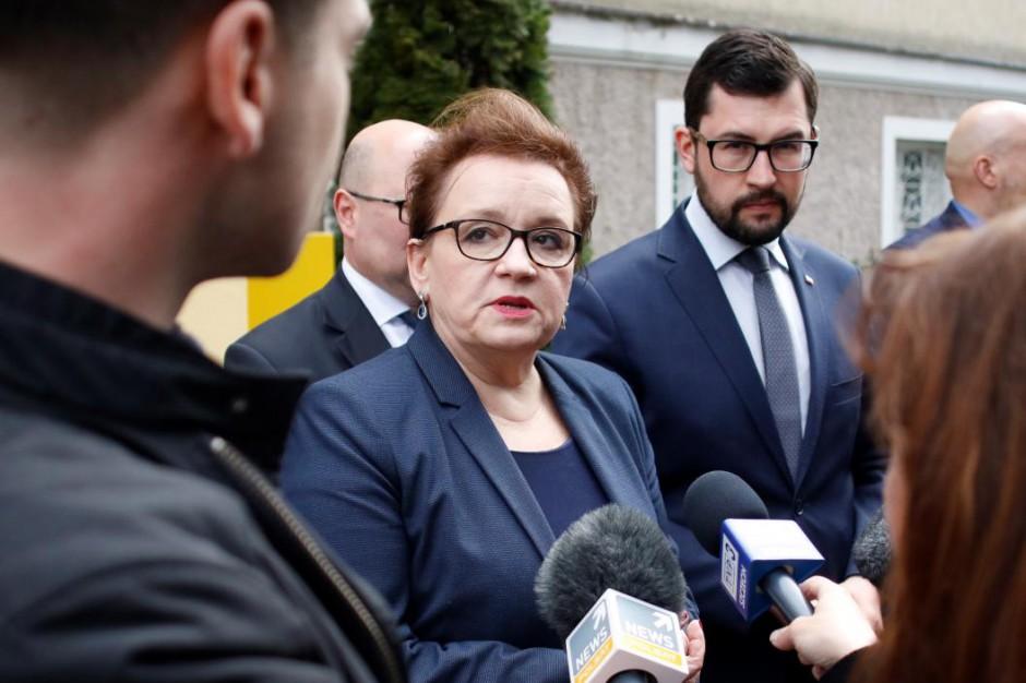 Anna Zalewska w Darłowie: Nie ma słów, które byłyby pocieszeniem dla rodziców