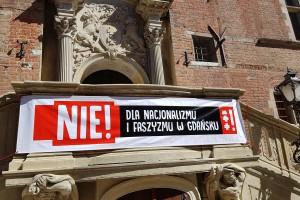 Prezydent Gdańska na wiecu przeciw faszyzmowi