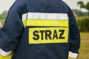 Strażacy dogaszają pożar rozlewni chemikaliów w Żywcu