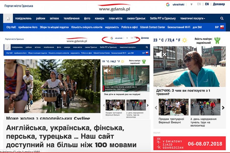 Gdańsk stawia na cudzoziemców. Miejski portal dostępny w ponad 100 językach