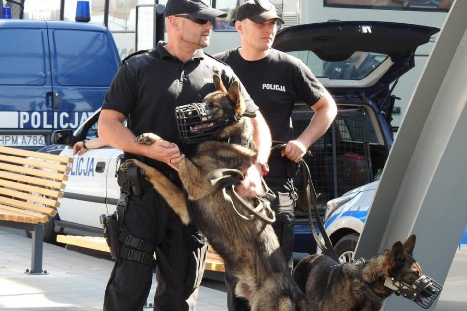 Policja szkoliła swoje psy na białostockim dworcu PKS