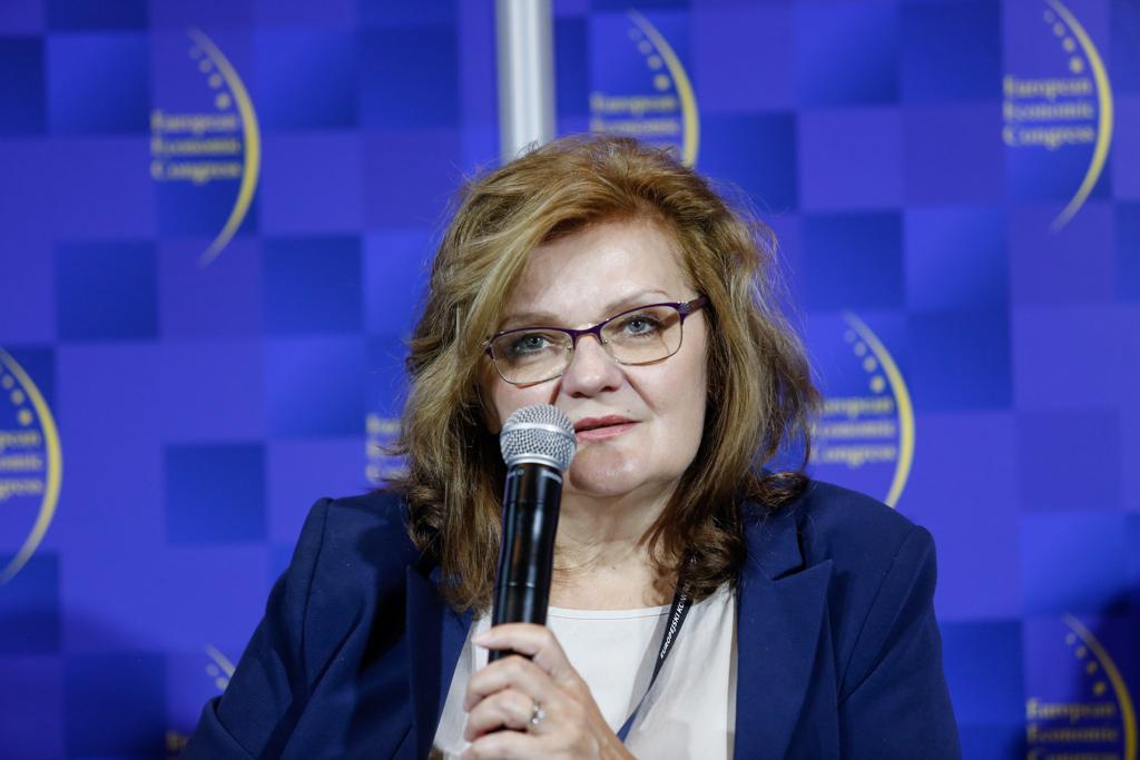 Danuta Kamińska, wiceprzewodnicząca zarządu Górnośląsko-Zagłębiowskiej Metropolii (fot. PTWP)