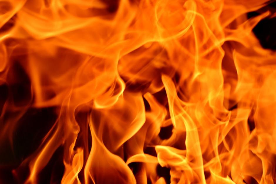 Zgierz: Pożar wysypiska. Wojskowi włączyli się do akcji
