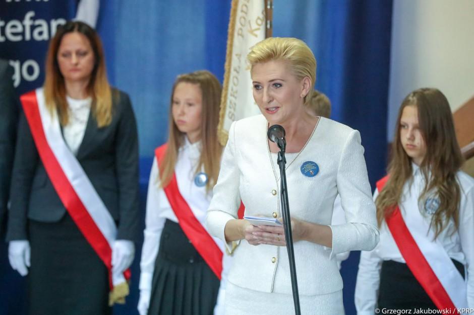 Agata Kornhauser-Duda świętowała jubileusz szkoły w Podgórzu
