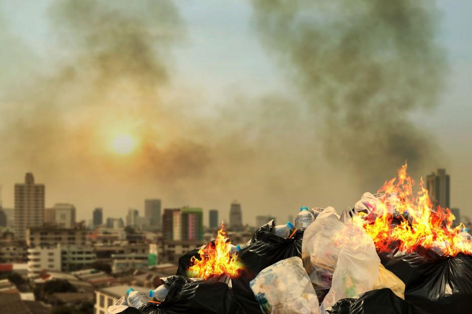 Pożar na składowisku odpadów w okolicach Polkowic