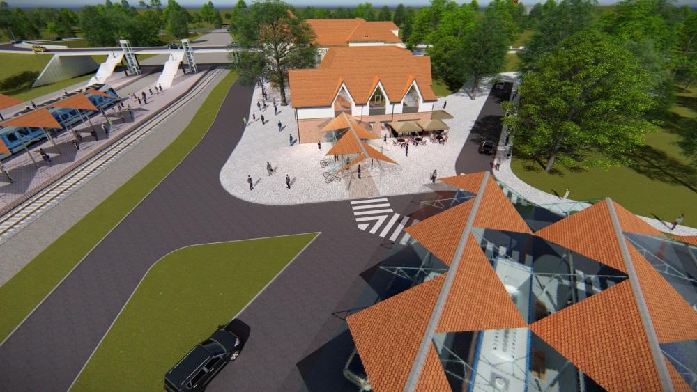 Węzeł przesiadkowy będzie zintegrowany z komunikacją kolejową, autobusową, rowerową i pieszą (fot. UM)