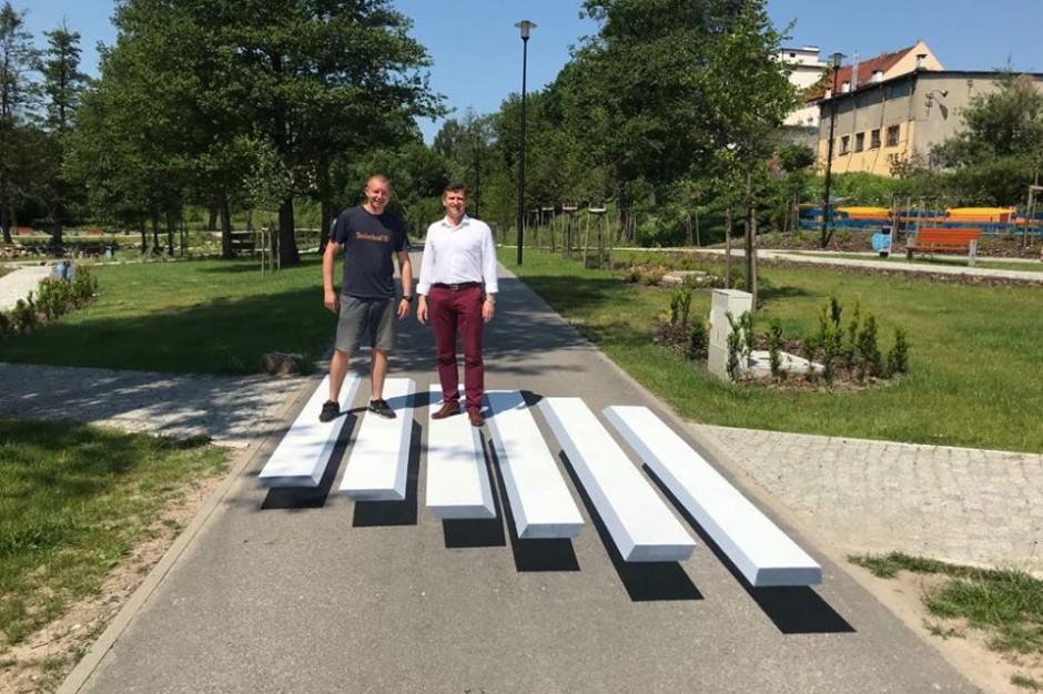 W Lidzbarku Warmińskim powstało przejście dla pieszych w 3D
