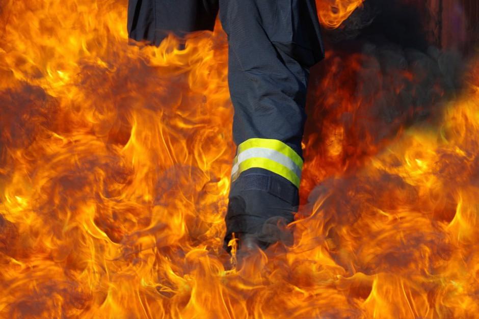 Podpalenie prawdopodobną przyczyną pożaru w Trzebini