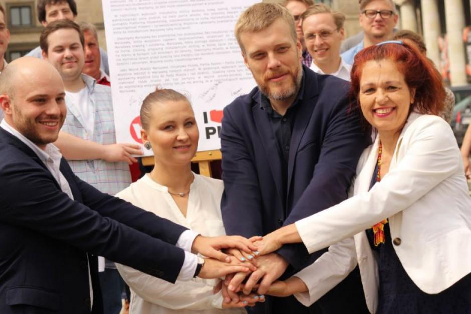 Partia Razem, Inicjatywa Polska, Wolne Miasto Warszawa i Zieloni ogłosili koalicję w stolicy