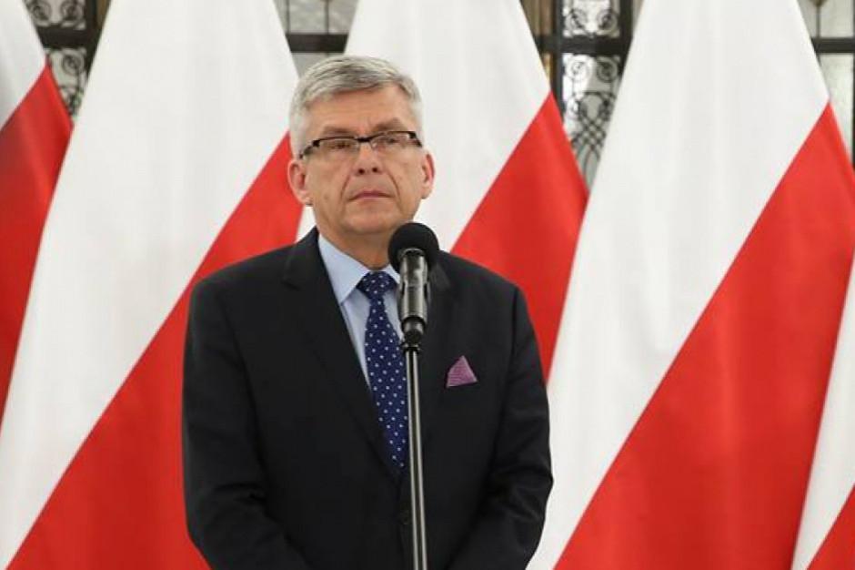 Referendum konstytucje razem z eurowyborami. Marszałek Karczewski chwali pomysł