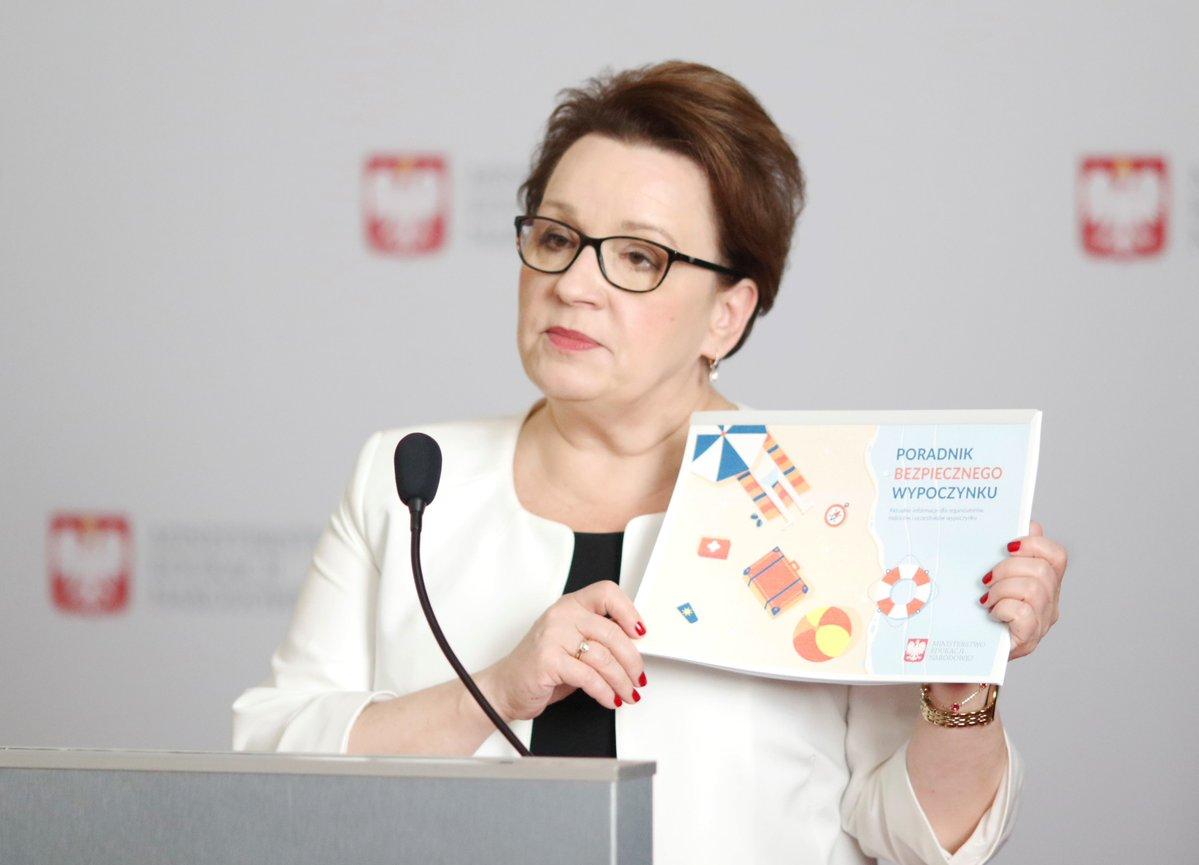 Anna Zalewska, minister edukacji narodowej. (fot.Twitter/MEN)