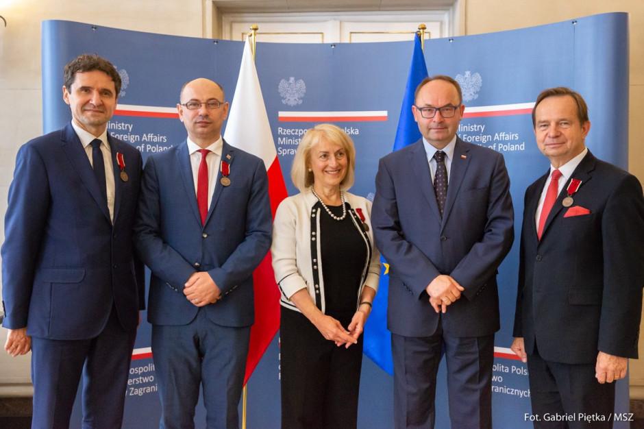 Odznaki Bene Merito dla Władysława Ortyla i Bogdana Romaniuka