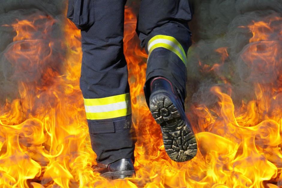 Łódzkie: Trwa dogaszanie pożaru wysypiska w miejscowości Mostki