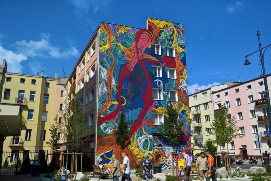 Łódź: Mają pierwszy w Polsce trójwymiarowy mural