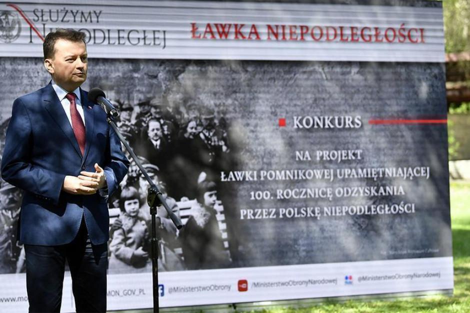 MON ogłasza konkurs dla samorządów. Resort dopłaci do Ławek Niepodległości