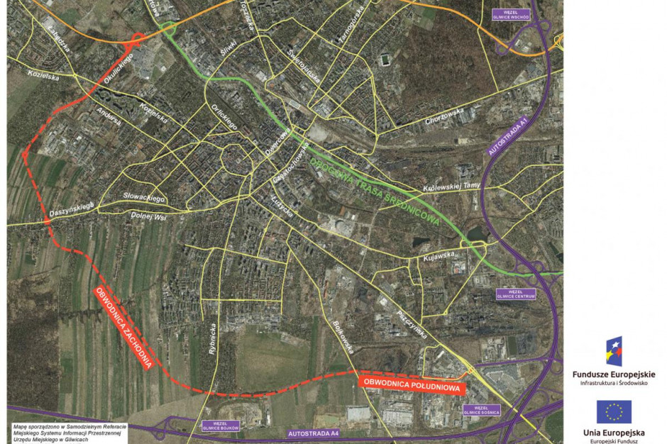 Gliwice: rozstrzygnięty przetarg na budowę fragmentu zachodniej obwodnicy miasta
