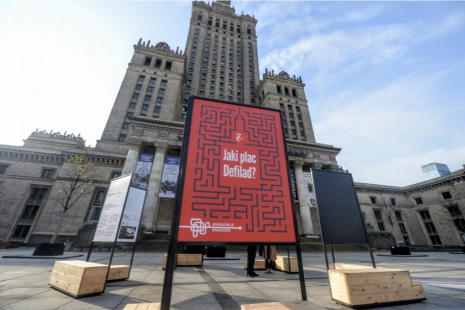 Nowoczesna przedstawiła plan przebudowy Placu Defilad