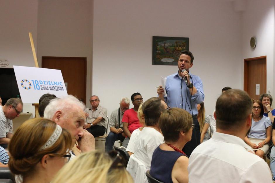 Rafał Trzaskowski: Mój program dla Warszawy ma być oparty na autentycznych problemach dzielnic