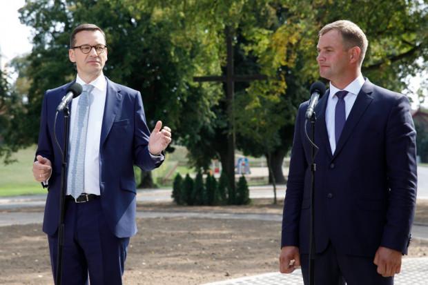 Wizyta premiera Morawieckiego w gminie Śliwice