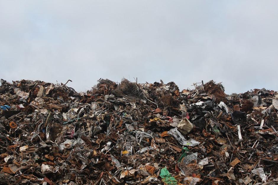 Pożar na wysypisku odpadów w Studziankach