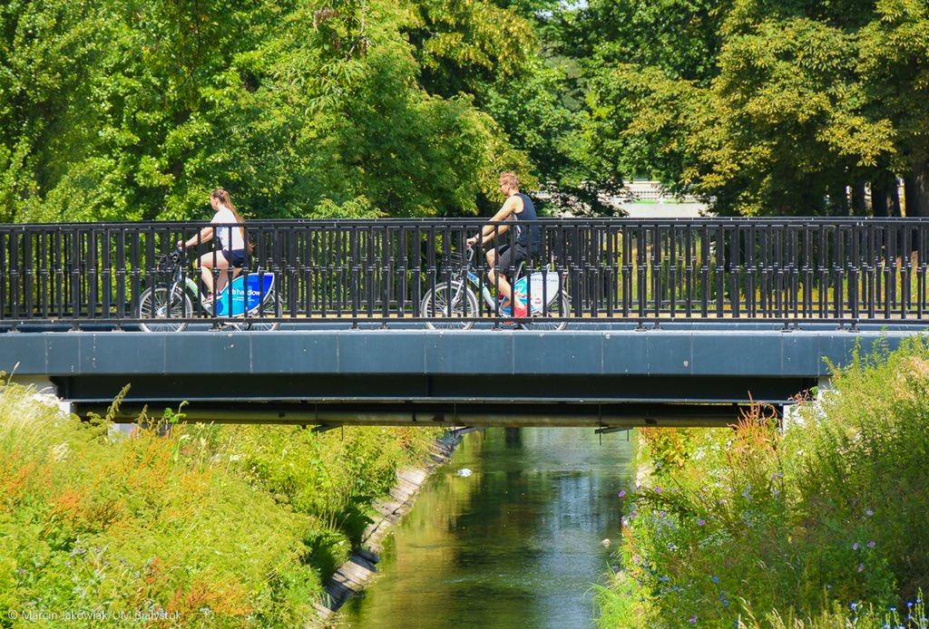 Od początku sezonu białostoczanie wypożyczyli rowery miejskie już ponad 470 tysięcy razy, czyli średnio co 23 sekundy. (fot.Twitter/Wschodzący Białystok)