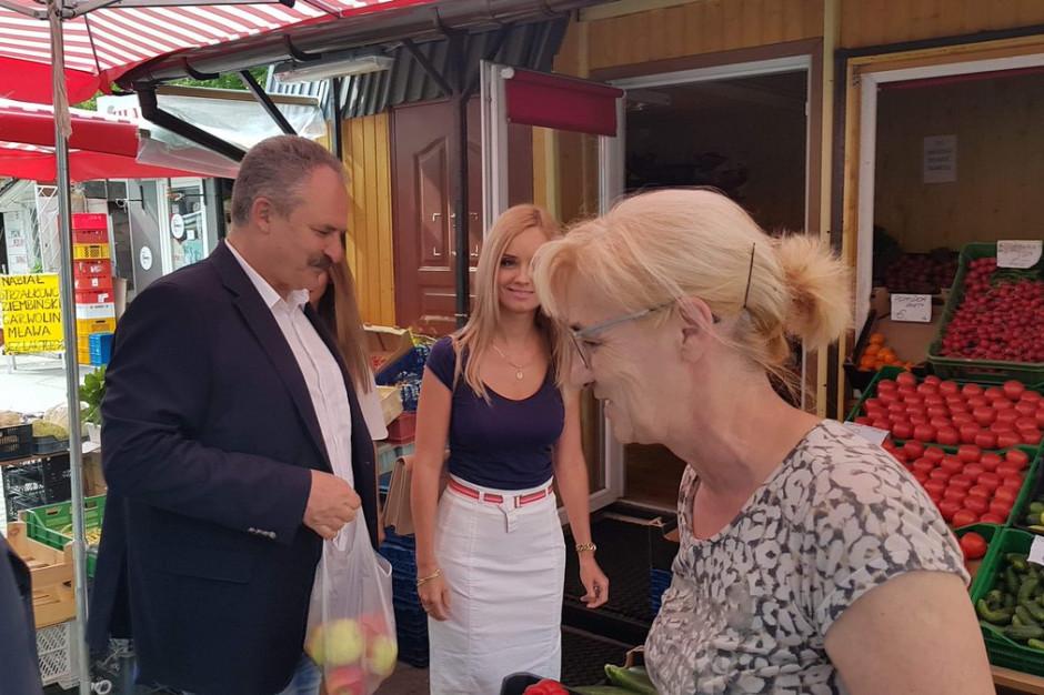 Marek Jakubiak obiecuje utrzymanie bazarów na terenie Warszawy
