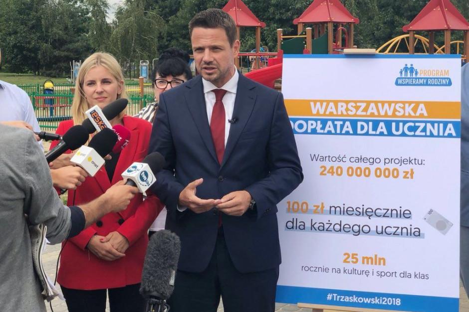 Trzaskowski chce wybudować w Warszawie 25 przedszkoli i po dwa żłobki w każdej dzielnicy