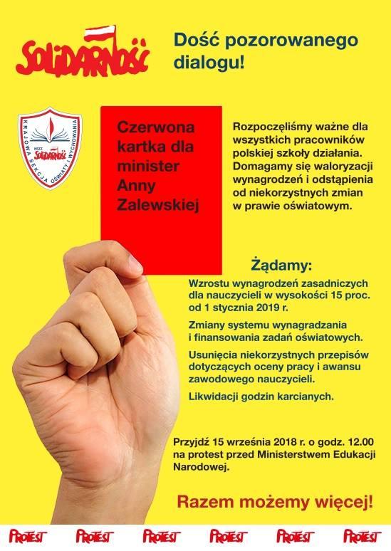 Grafika: Facebook/Sekcja Krajowa Oświaty i Wychowania NSZZ