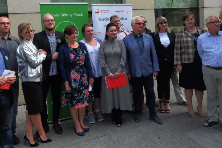 W Płocku kandydaci Partii Zieloni na listach SLD Lewica Razem